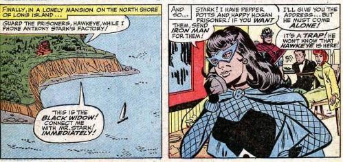 black widow calling tony stark