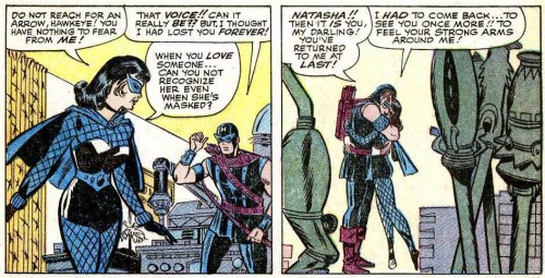 black widow meets hawkeye