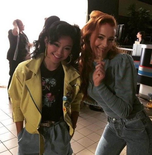 jean grey and jubilee on set 01