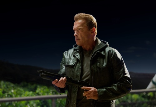 Arnold Schwarzenegger as the Terminator in TERMINATOR GENISYS