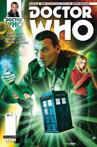 עטיפת הגיליון החמישי של המיני-סדרה בכיכוב הדוקטור התשיעי