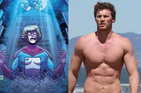 Derek Theler (Baby Daddy) will play Mister Immortal01