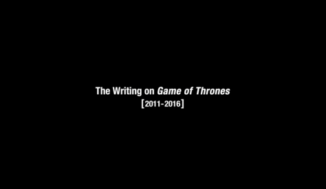 memorial for writing game on thrones